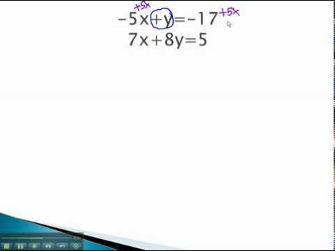 Systems of Equations - Solve for a Variable - YouTube.mp4
