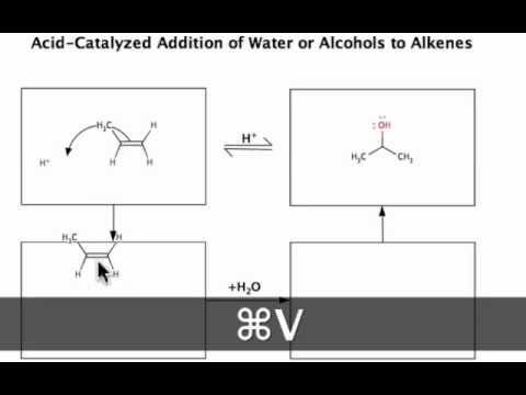Acid-Catalyzed Addition of Water to Alkenes