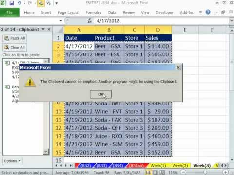 Excel Magic Trick 832: Merge Tables with Copy, Paste and Clipboard