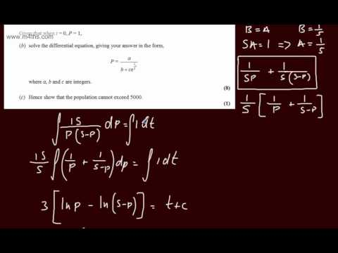 (q8) Core 4 January 2012 Edexcel - (Very quick worked answers) Differential Equations