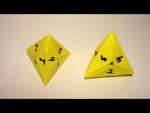 Origami 4 Sided Dice (tetrahedron)