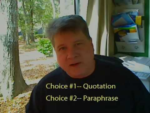 Avoid Plagiarism in Research Papers with Paraphrases & Quotations