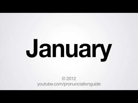 How to Pronounce January