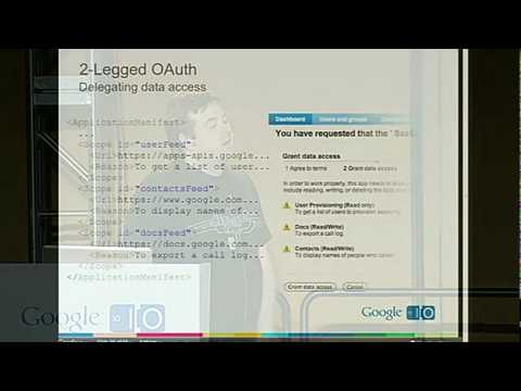 Google I/O 2010 - Integrate apps w/ Google Apps Marketplace