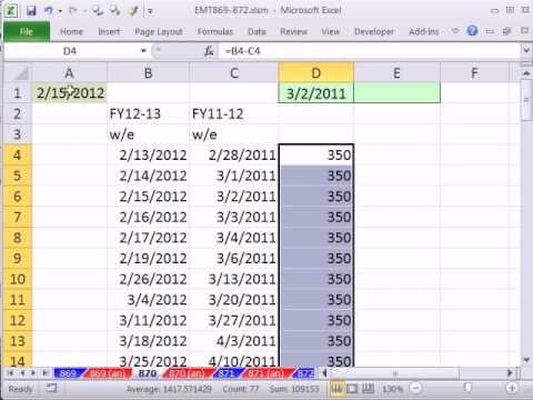 Excel Magic Trick 870: VLOOKUP A Date and Pattern To Simplify Formula