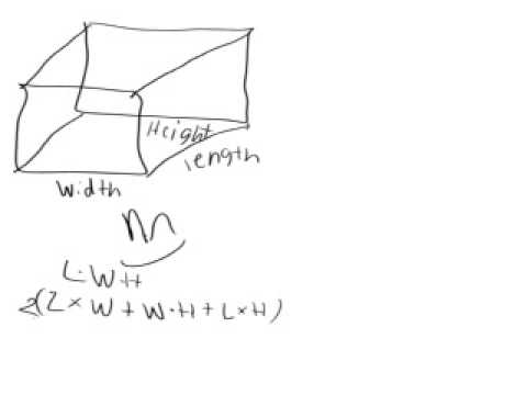 Student explains surface area rect. prism