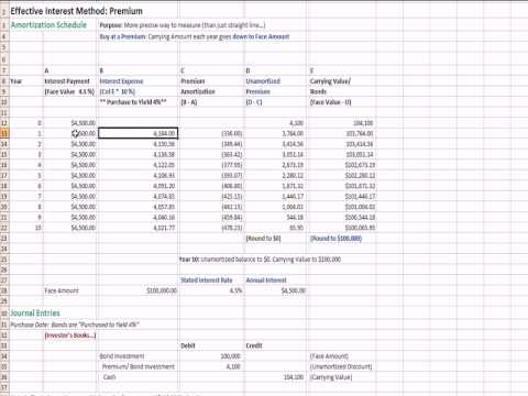 Intermediate Accounting 22: Effective Interest Rate