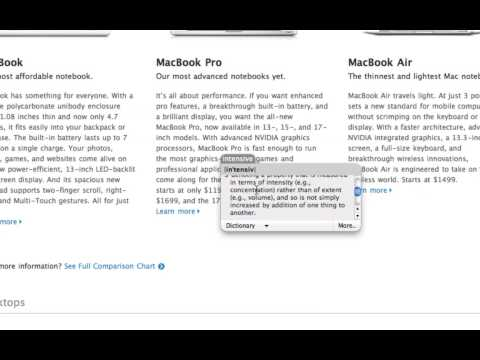 Quick Tip: Dictionary in any Application on Mac