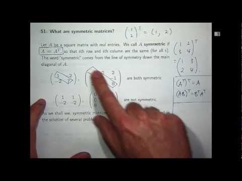 Symmetric matrices - eigenvalues & eigenvectors