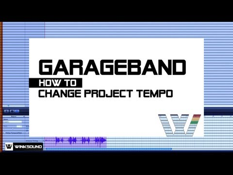 Garageband: How To Change Tempo | WinkSound