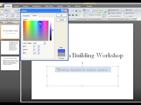 PowerPoint 2007: Text Basics Part 2