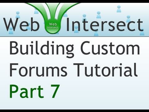 7. Web Intersect Forum Tutorial : JQuery Ajax PHP MySQL Thread and Reply Form