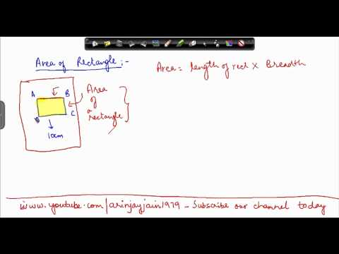 62. Class VII - Online Maths for CBSE, ICSE, NCERT India  - Area of rectangle