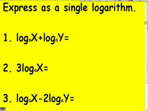 105 Laws of Logarithms
