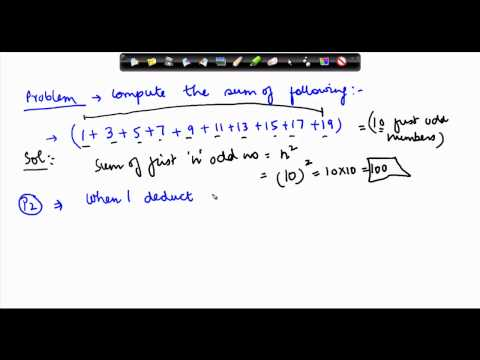 140-Problem on Computing sum of first n odd numbers