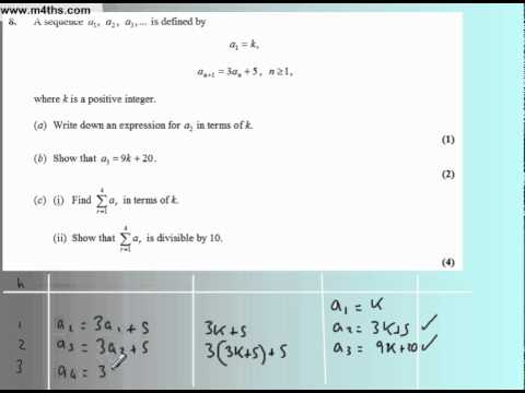 Core 1 Edexcel May 2007 (Q8 Quick worked solutions)