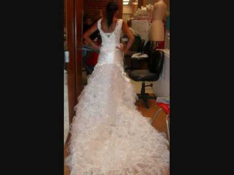 HOW to make a WEDDING DRESS EASY