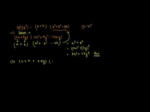 Sum of a cube and b cube identity