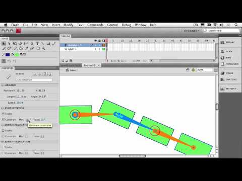 Adobe Flash CS4 Professional Ch 5: Adjusting Armature & Bone Properties