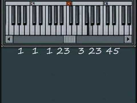 Row Row Row Your Boat - Music By Numbers Piano Lesson