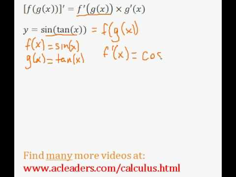Calculus - CHAIN RULE - finding the derivative (pt.5)