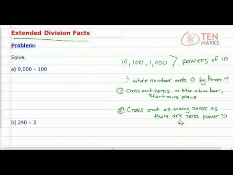 Extending Division Facts