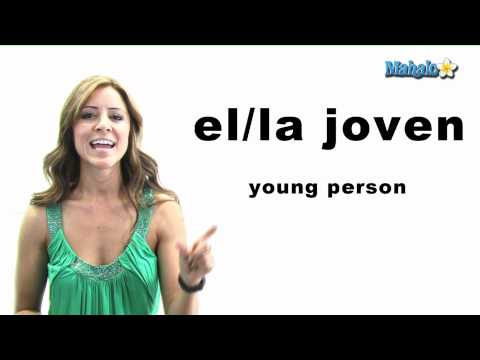 "How to Say ""Young Person"" in Spanish"