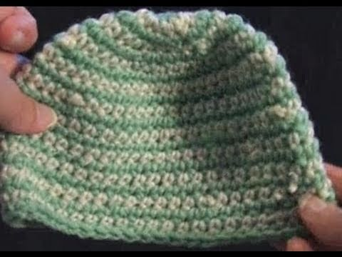 Left Hand Crochet - Left Hand Crochet - Stripe Crochet Baby Beanie Left Hand