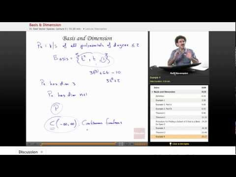 Linear Algebra: Basis and Dimension