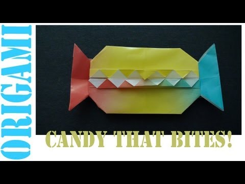 Origami Daily - 420: Candy Pouch With Teeth (Halloween) - TCGames [HD]