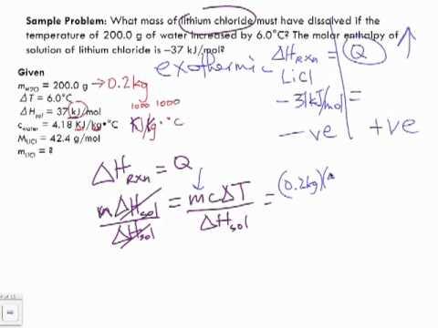Molar Enthalpy Sample Problem 4