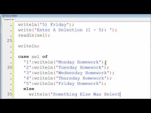 Free Pascal Program Tutorial 12 - Menus For User Friendly Programs - Lazarus