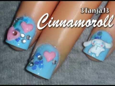 Sanrio #8; *Cinnamoroll - Short Nail Art Design* 3D Acrylic