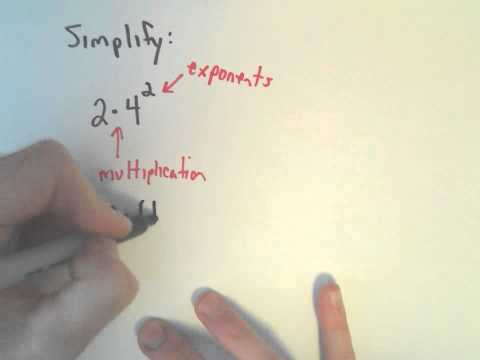 The Order of Operations, Example 1