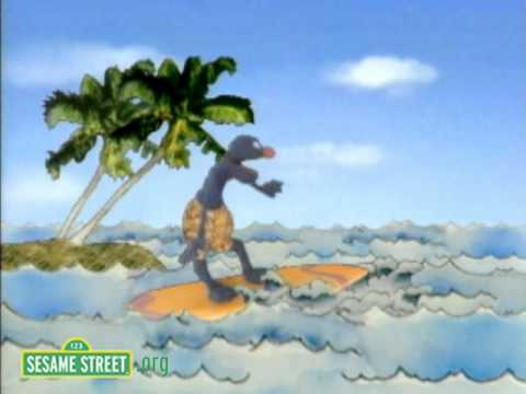 Sesame Street: Grover Surfing Near and Far