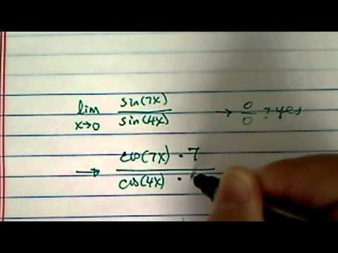 how to find limit using L'Hopital's rule ?