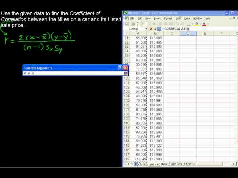 How to Compute the Coefficient of Correlation - Business Statistics Tips