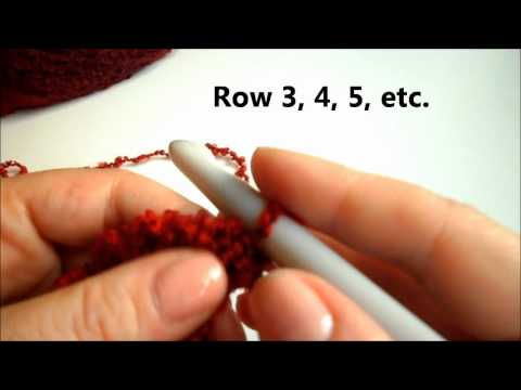 How to Crochet Ruffle Scarf