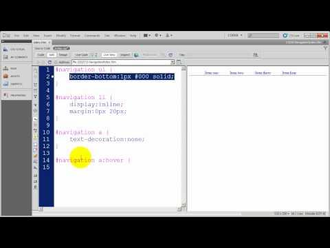"Creating CSS Navigation - Creating a Horizontal ""Line on Line"" CSS Menu"