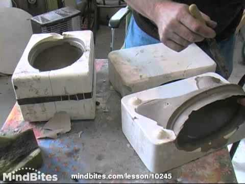 Pottery - Prt. 14 of 21  slip casting using moulds