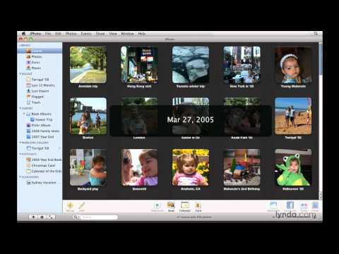 iPhoto: Building ways to organize photos | lynda.com