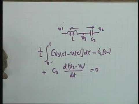 Lecture - 3 Network Equations; Initial and Final Conditions
