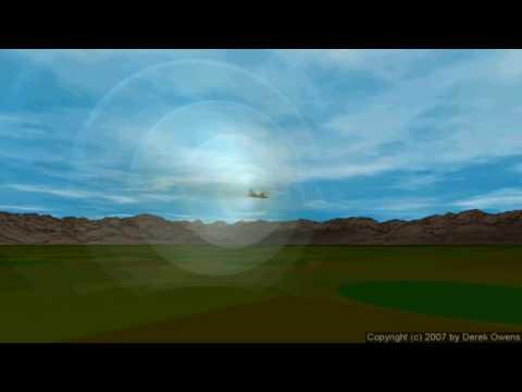 Physics 10.4.1c - Doppler Effect Rendering - Mach 0.7