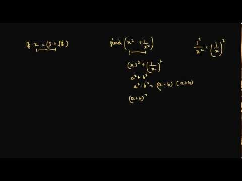 Finding value of algebraic expression when value of x has square root in denominator