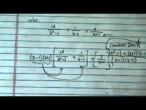 Rational Equation: 14/(x^2-1)+1/(x-1)=3/(x+1)