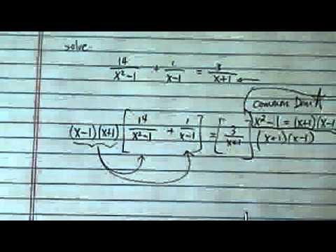 Rational Equation: 14/(x^2-1)+1/(x-1)=3/(x+1)
