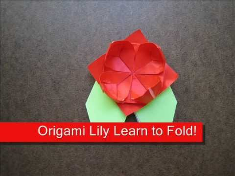 How to Fold Origami Water Lily - OrigamiInstruction.com