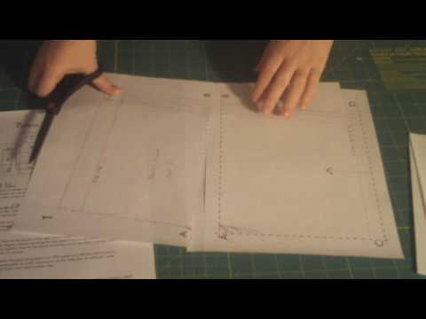 Learn to Sew 101 series -  Assembling PDF Patterns Lesson #3 - by Puking Pastilles