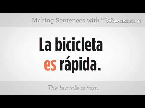 "Learn Spanish / Making Sentences with ""Es"""