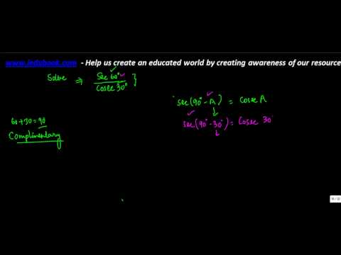 643.Class X - Trigonometry Ratios for Complementary angles - Problem 1